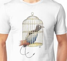 Bird of Paradise in Cage Unisex T-Shirt