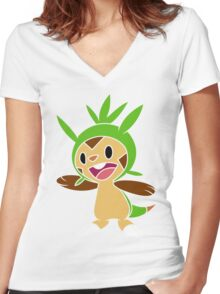 Chespin 1 Women's Fitted V-Neck T-Shirt