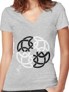 Celtic Four with a Twist tiled Women's Fitted V-Neck T-Shirt