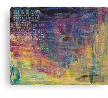 Lost for Words - August 2014 Canvas Print