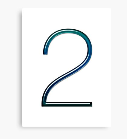 Number two Canvas Print