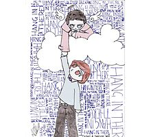 Hang in There - Angel Holding up Spencer Reid Photographic Print