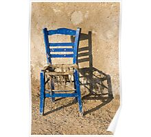 My blue chair Poster