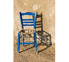 My blue chair Photographic Print