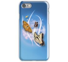 Butterflies Blue iPhone Case/Skin