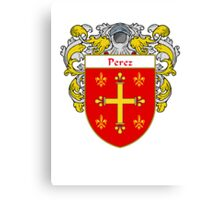 Perez Coat of Arms/Family Crest Canvas Print