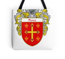 Perez Coat of Arms/Family Crest Tote Bag
