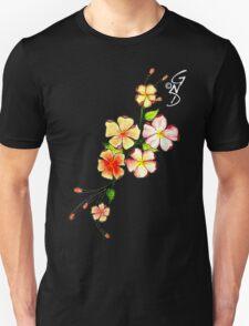 Cherry Blossom on black T-Shirt
