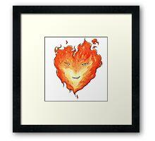 Fire Heart Framed Print