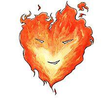 Fire Heart Photographic Print