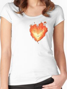 Fire Heart Women's Fitted Scoop T-Shirt