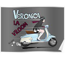 Scooter Girl Veronica La Vroom (Lambretta) Poster
