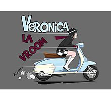 Scooter Girl Veronica La Vroom (Lambretta) Photographic Print