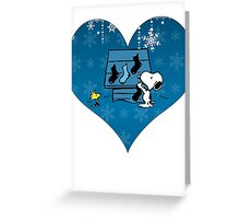 Snoopy Blue Holiday  Greeting Card