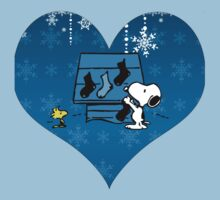 Snoopy Blue Holiday  Kids Tee