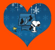 Snoopy Blue Holiday  Kids Tee