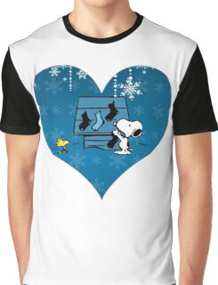 Snoopy Blue Holiday  Graphic T-Shirt