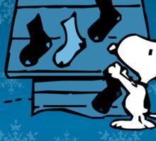 Snoopy Blue Holiday  Sticker