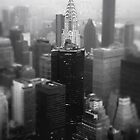 New York City - Chrysler Building and Skyline on a Foggy Evening by Vivienne Gucwa