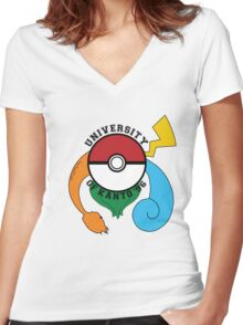 Pokemon - University Of Kanto '96 Women's Fitted V-Neck T-Shirt