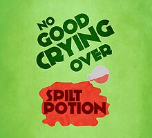 No Good Crying Over Spilt Potion iPhone/iPod case by believeluna