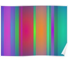 Tranquility Stripes Poster