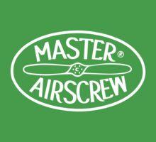 Master Airscrew Logo (White) Kids Clothes