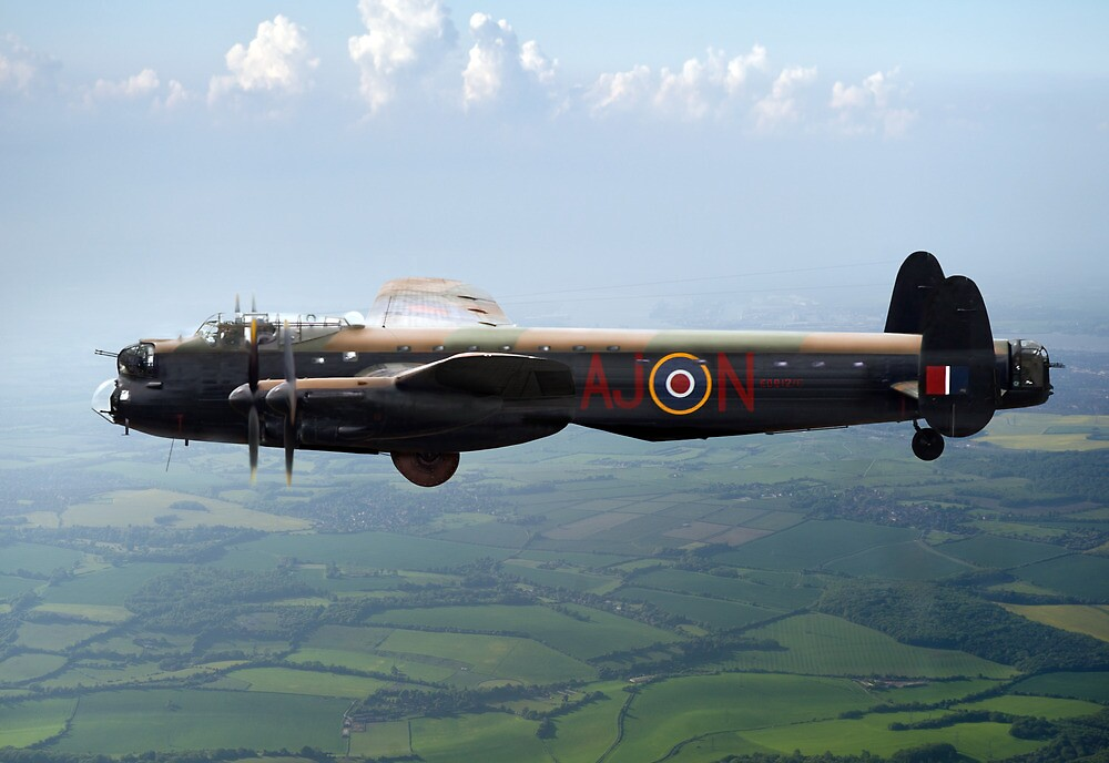 Dambusters Lancaster AJ-N by Gary Eason + Flight Artworks