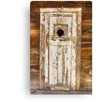 Classic Rustic Rural Worn Old Barn Door Canvas Print