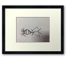 Super Stick Man Framed Print