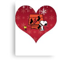 Snoopy Red Holiday Canvas Print