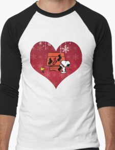 Snoopy Red Holiday Men's Baseball ¾ T-Shirt
