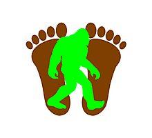 Neon Green Bigfoot Photographic Print