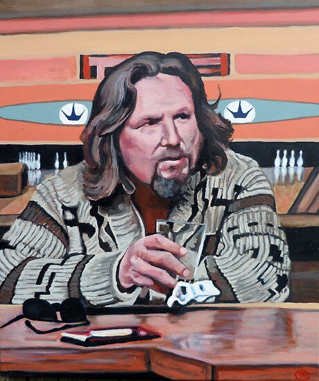 Jeffrey Lebowski by Tom Roderick