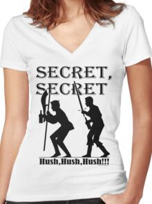 Galavant - SECRET!! Women's Fitted V-Neck T-Shirt