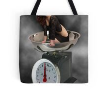 ❀◕‿◕❀ HAPPINESS IS A SCALE THAT LIES ❀◕‿◕❀ Tote Bag