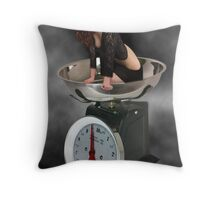 ❀◕‿◕❀ HAPPINESS IS A SCALE THAT LIES ❀◕‿◕❀ Throw Pillow