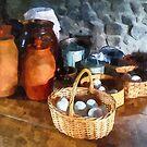 Food - Baskets of Eggs by Susan Savad