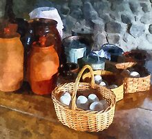 Food - Baskets of Eggs by Susan Savad
