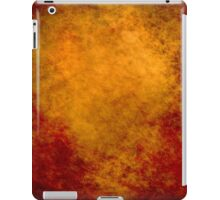 Orange Abstract iPad Case Old Retro Cool Grunge Texture Vintage  iPad Case/Skin