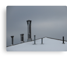 Winter Rooftop Canvas Print