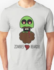 Zombies Love Beards T-Shirt