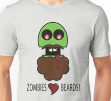 Zombies Love Beards Unisex T-Shirt