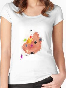 Abstract watercolor blots Women's Fitted Scoop T-Shirt
