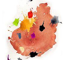 Abstract watercolor blots by benedita