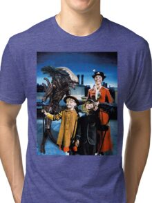 Alien in Mary Poppins Tri-blend T-Shirt