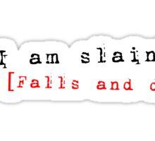 Stick Figure Shakespeare: Polonius is Slain! (Hamlet) Sticker