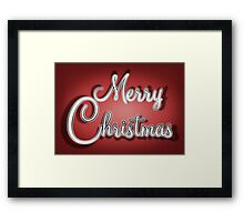 Merry Christmas Greetings Card Framed Print