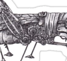 Steampunk Grasshopper Sticker