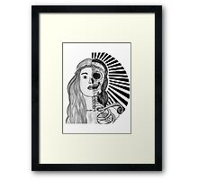 Living and Dead (round) Framed Print